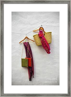 Hanging Handicraft  Framed Print by Carlos Caetano