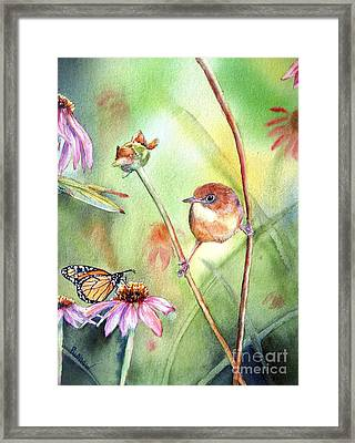 Hanging In There Framed Print by Patricia Pushaw