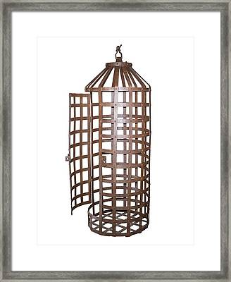 Hanging Iron Cage Framed Print by David Parker