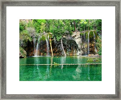 Hanging Lake 1 Framed Print by Ken Smith