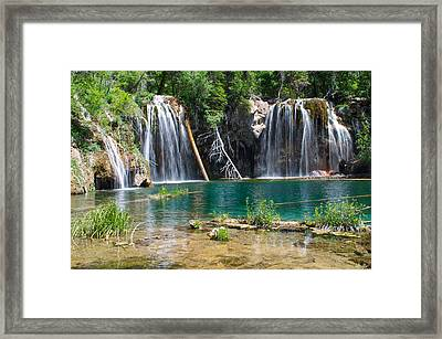 Hanging Lake - Colorado Framed Print by Aaron Spong
