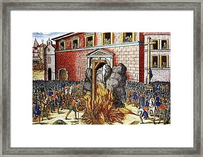Hanging Of Anne Du Bourg Framed Print by Cci Archives