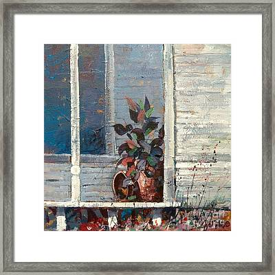 Hanging On Framed Print by Micheal Jones