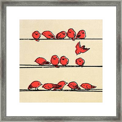 Hanging Out Framed Print by Eric Fan