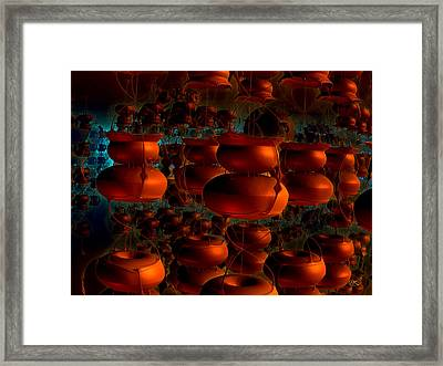 Hanging Pottery Framed Print by Kiki Art