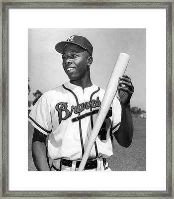 Hank Aaron Poster Framed Print by Gianfranco Weiss