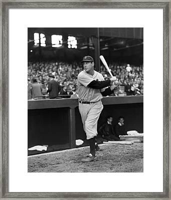 Hank Greenberg Detroit Framed Print by Retro Images Archive