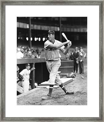 Hank Greenberg Stance And Swing Framed Print by Retro Images Archive