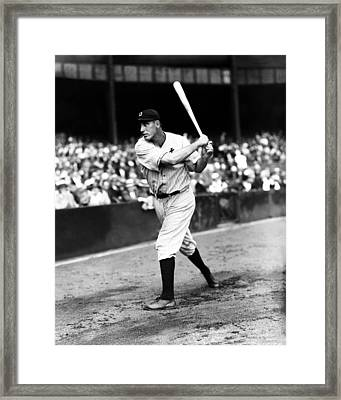 Hank Greenberg Swinging Framed Print by Retro Images Archive