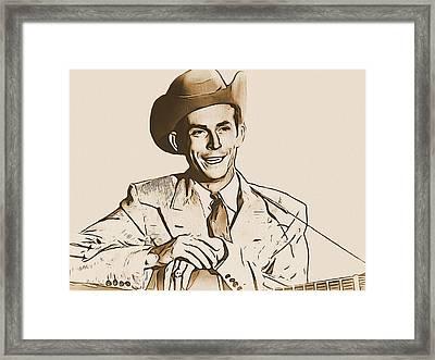 Hank Williams Framed Print by Dan Sproul