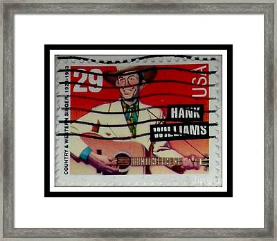 Hank Williams Postage Stamp Framed Print by Gail Matthews