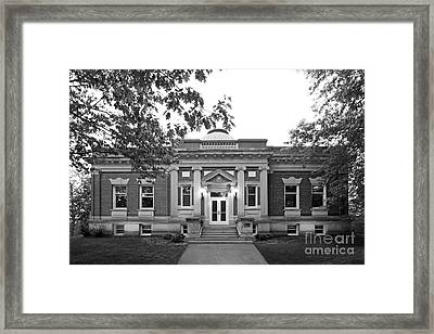 Hanover College Hendricks Hall Framed Print by University Icons