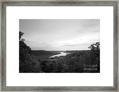 Hanover College Ohio River View Framed Print by University Icons
