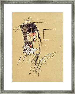 Hansom Cab  Framed Print by Cecil Charles Windsor Aldin