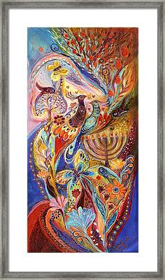 Hanukkah In Magic Garden Framed Print by Elena Kotliarker