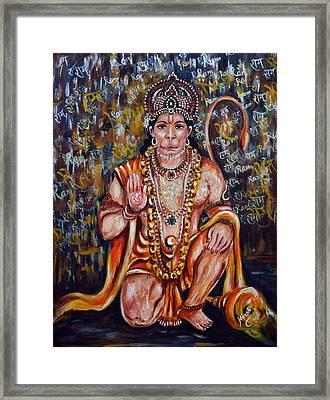Hanuman Framed Print by Harsh Malik