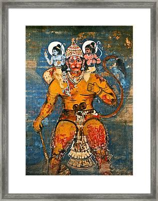 Hanuman Framed Print by Kurt Van Wagner