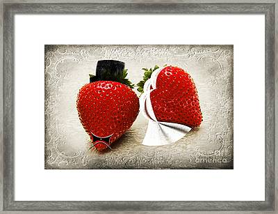 Happily Berry After Framed Print by Andee Design