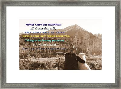 Happiness Framed Print by Fiona Kennard
