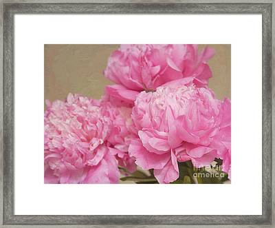 Happiness In Pink Silk Framed Print by Irina Wardas