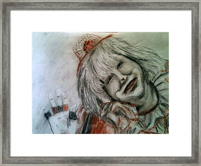 Happiness Is A Clown Framed Print by Betty Pimm