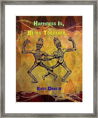 Happiness Is.. Framed Print by Bedros Awak