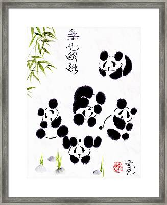 Happiness Is Getting Along Framed Print by Oiyee  At Oystudio