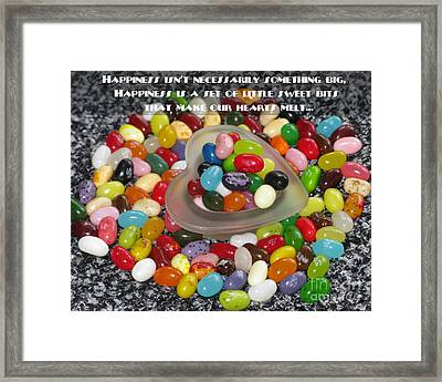 Happiness Is Made Of Tiny Bits Framed Print by Ausra Huntington nee Paulauskaite