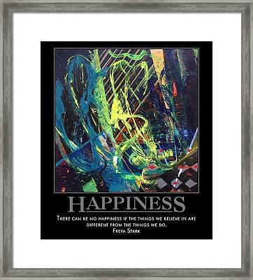 Happiness Sold Framed Print by Sylvia Greer