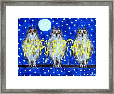 Happy Birthday 13 Framed Print by Patrick J Murphy