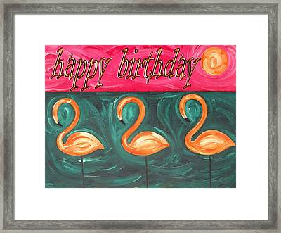 Happy Birthday 18 Framed Print by Patrick J Murphy