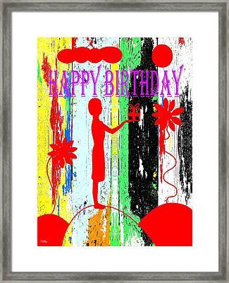 Happy Birthday 7 Framed Print by Patrick J Murphy