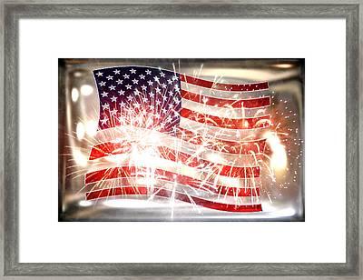 Happy Birthday America Framed Print by Li   van Saathoff