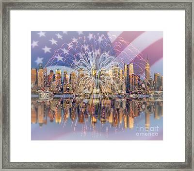 Happy Birthday America Framed Print by Susan Candelario