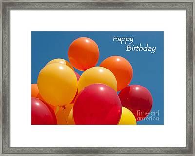 Happy Birthday Balloons Framed Print by Ann Horn