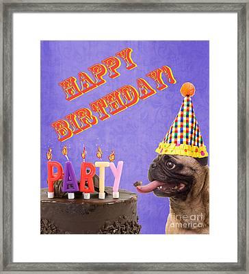 Happy Birthday Card Framed Print by Edward Fielding