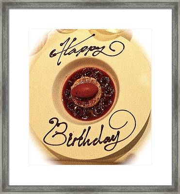 Happy Birthday Dessert Framed Print by Venetia Featherstone-Witty