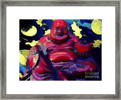 Happy Budda Framed Print by John Malone