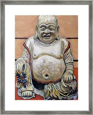 Happy Buddha  Framed Print by Tom Roderick