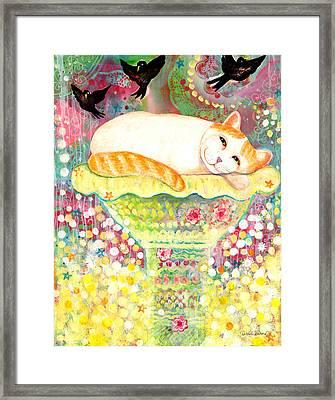Catbird Dreamin Framed Print by Deborah Burow