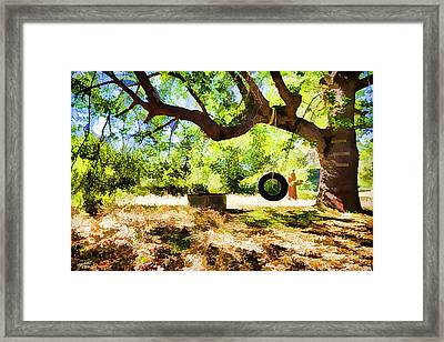 Happy Childhood Memories Framed Print by Scott Campbell
