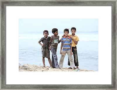 Happy Children  Framed Print by Saju S