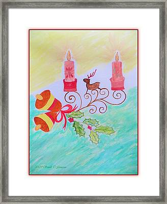 Christs Birthday Framed Print featuring the painting Happy Christmas by Sonali Gangane