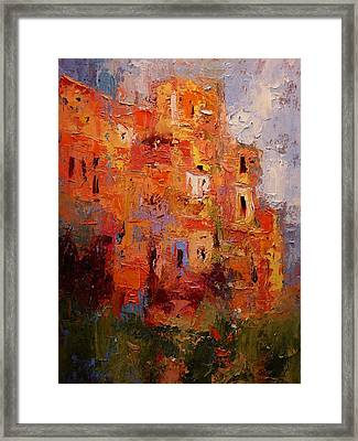 Happy Corniglia Framed Print by R W Goetting