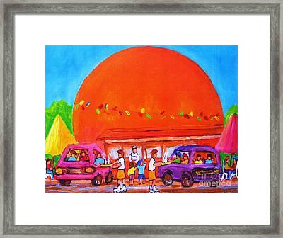 Happy Days At The Big  Orange Framed Print by Carole Spandau