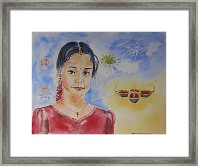 Happy Diwali  Framed Print by Geeta Biswas