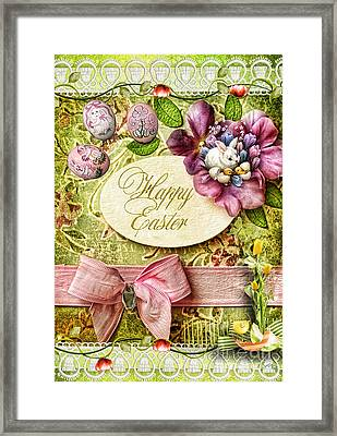 Happy Easter 2 Framed Print by Mo T
