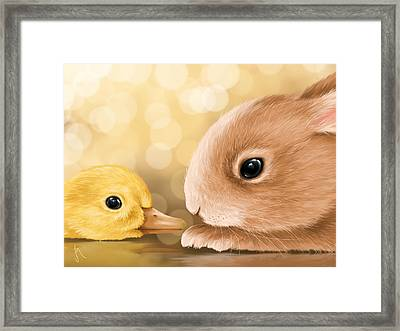 Happy Easter 2014 Framed Print by Veronica Minozzi