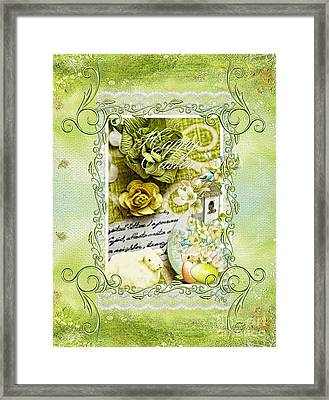 Happy Easter 3 Framed Print by Mo T