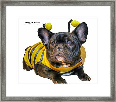 Happy Halloween Card Framed Print by Tap  On Photo